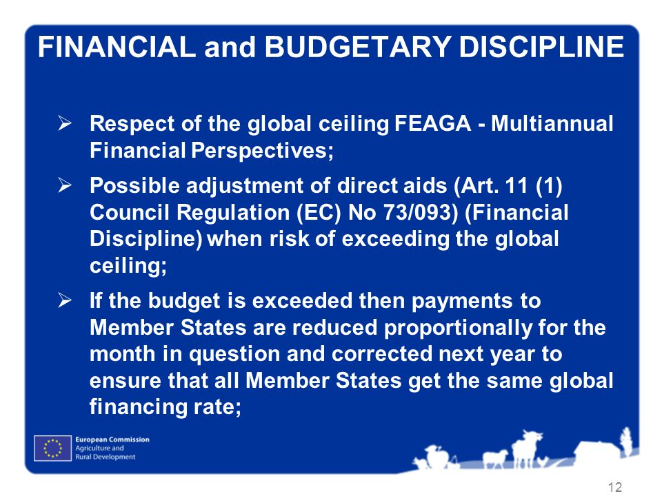 FINANCIAL and BUDGETARY DISCIPLINE