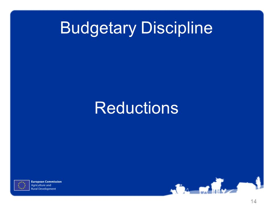 Budgetary Discipline Reductions