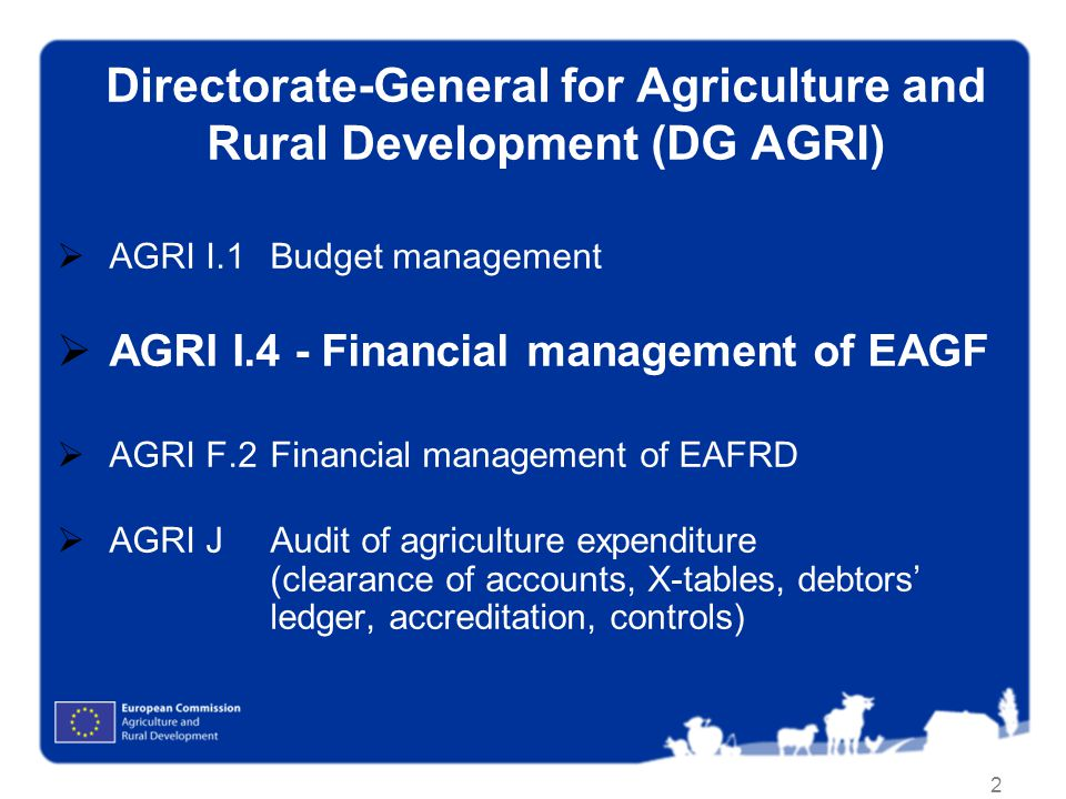 Directorate-General for Agriculture and Rural Development (DG AGRI)