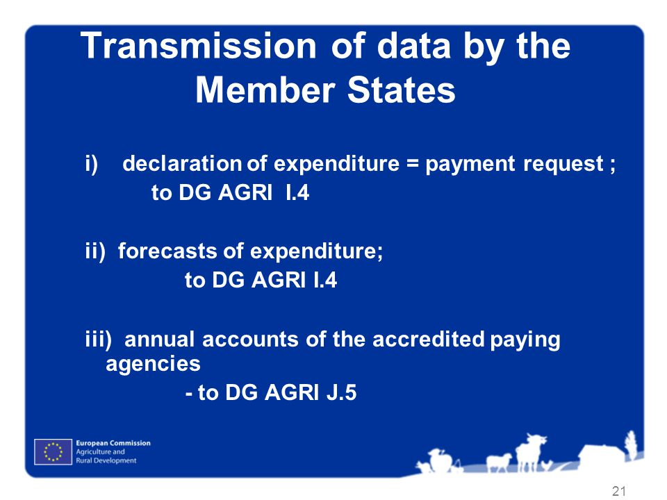 Transmission of data by the Member States