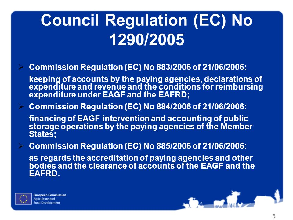 Council Regulation (EC) No 1290/2005