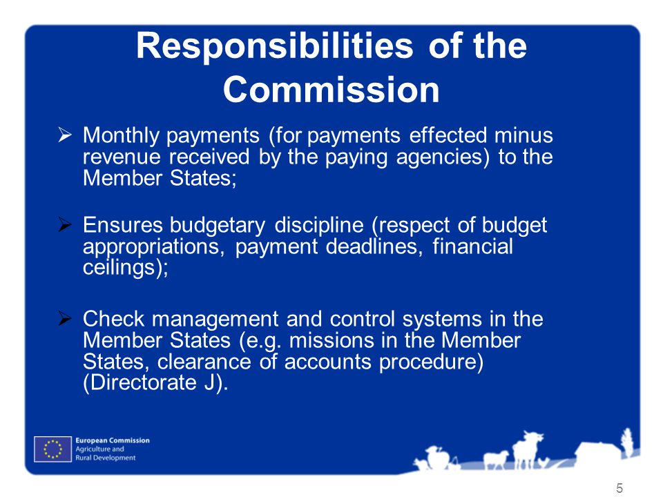 Responsibilities of the Commission