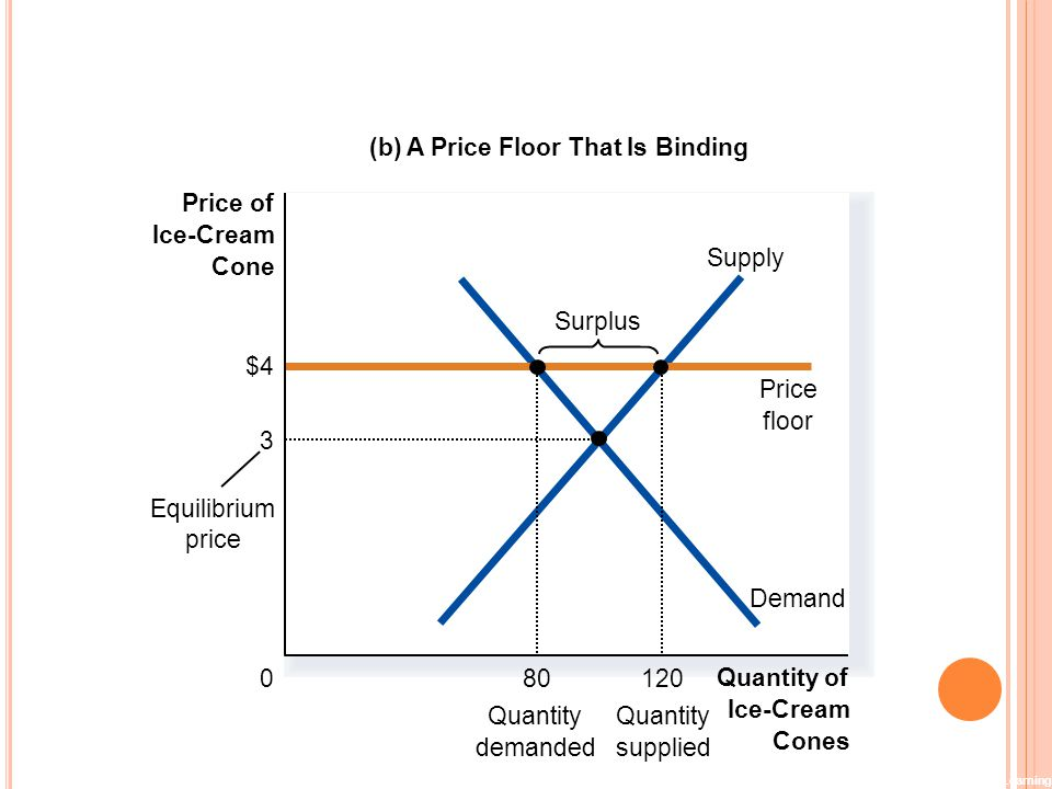 Figure 4 A Market with a Price Floor