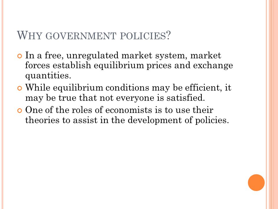 Why government policies