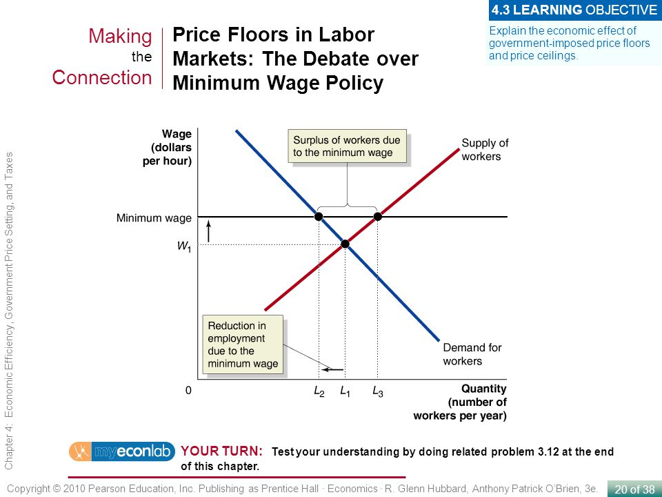 Price Floors in Labor Markets: The Debate over Minimum Wage Policy