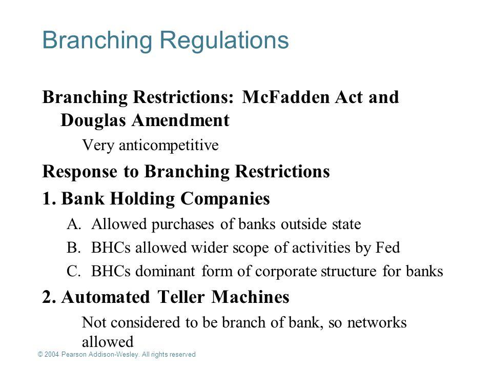 Branching Regulations
