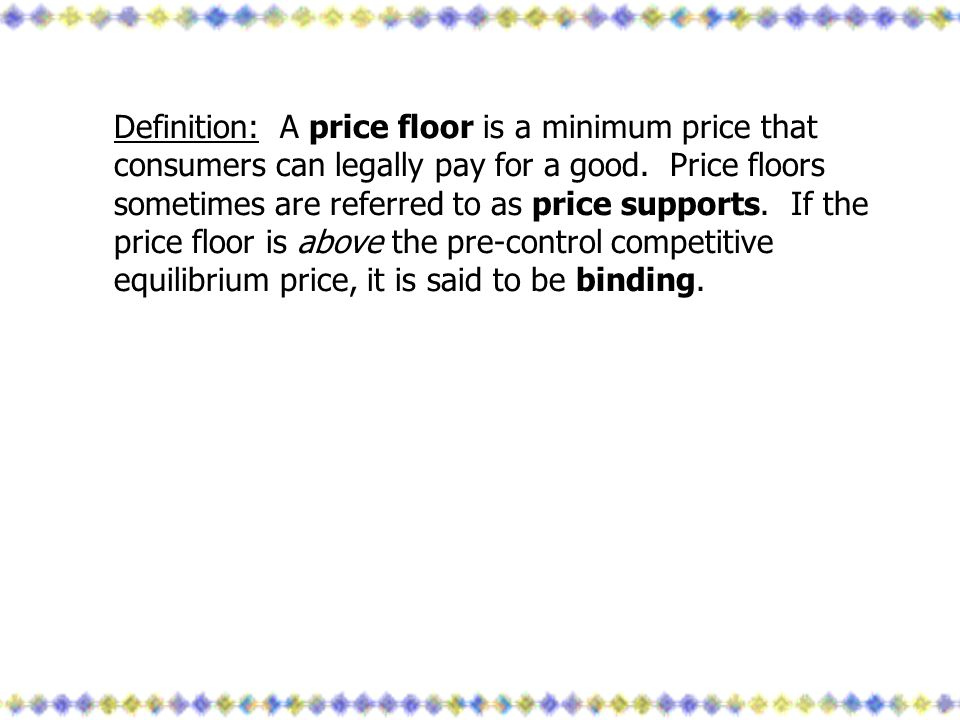 23 Definition: A Price Floor ...