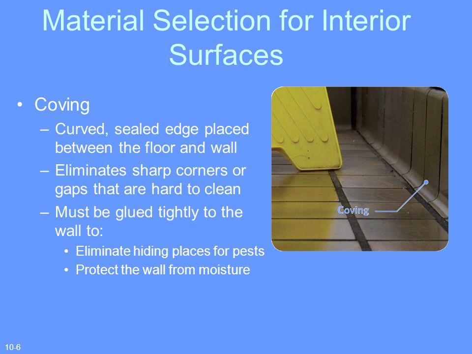Material Selection for Interior Surfaces