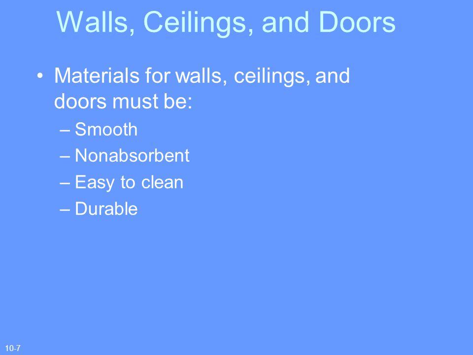Walls, Ceilings, and Doors