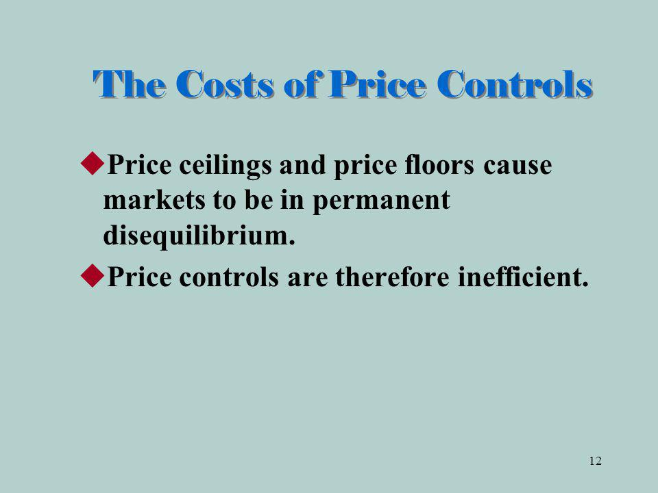 The Costs of Price Controls