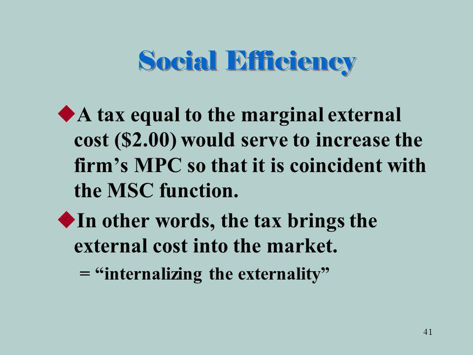 Social Efficiency