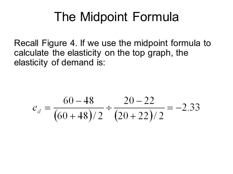 The Midpoint Formula Recall Figure 4.