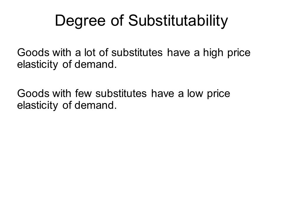 Degree of Substitutability