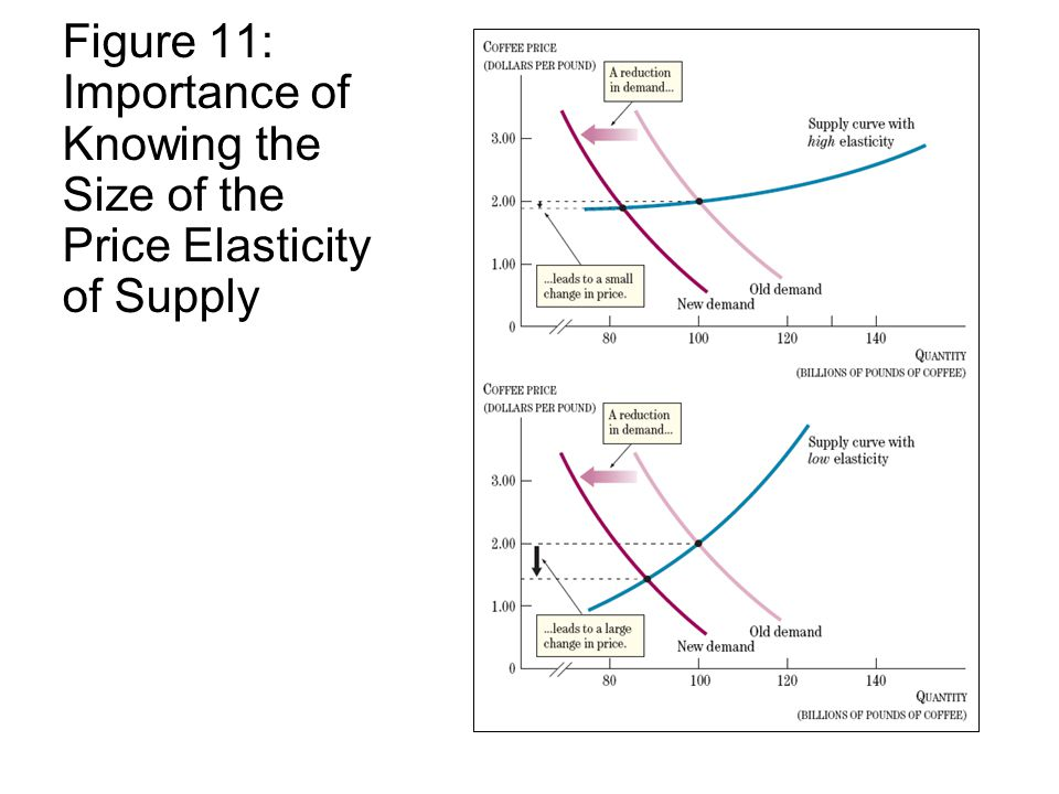 Figure 11: Importance of Knowing the Size of the Price Elasticity of Supply