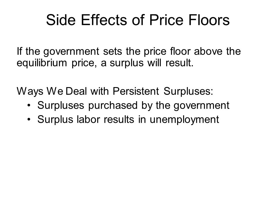 Side Effects of Price Floors