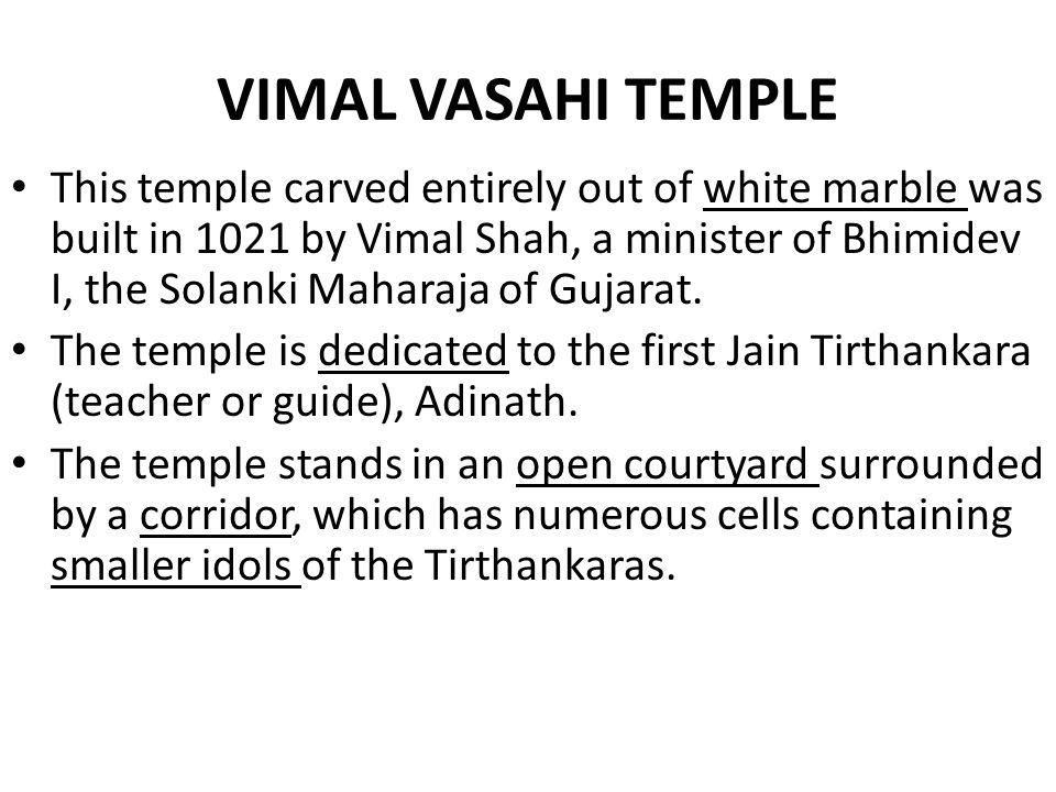 VIMAL VASAHI TEMPLE
