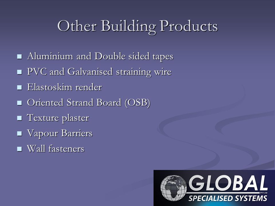 Other Building Products