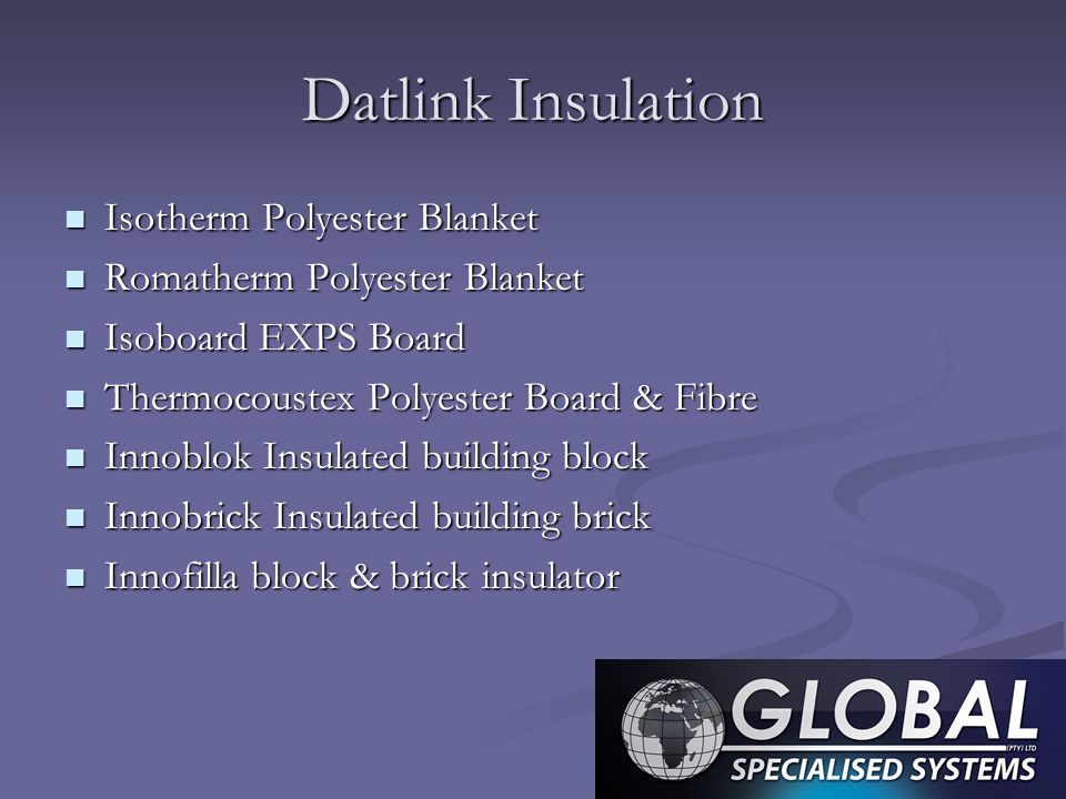 Datlink Insulation Isotherm Polyester Blanket
