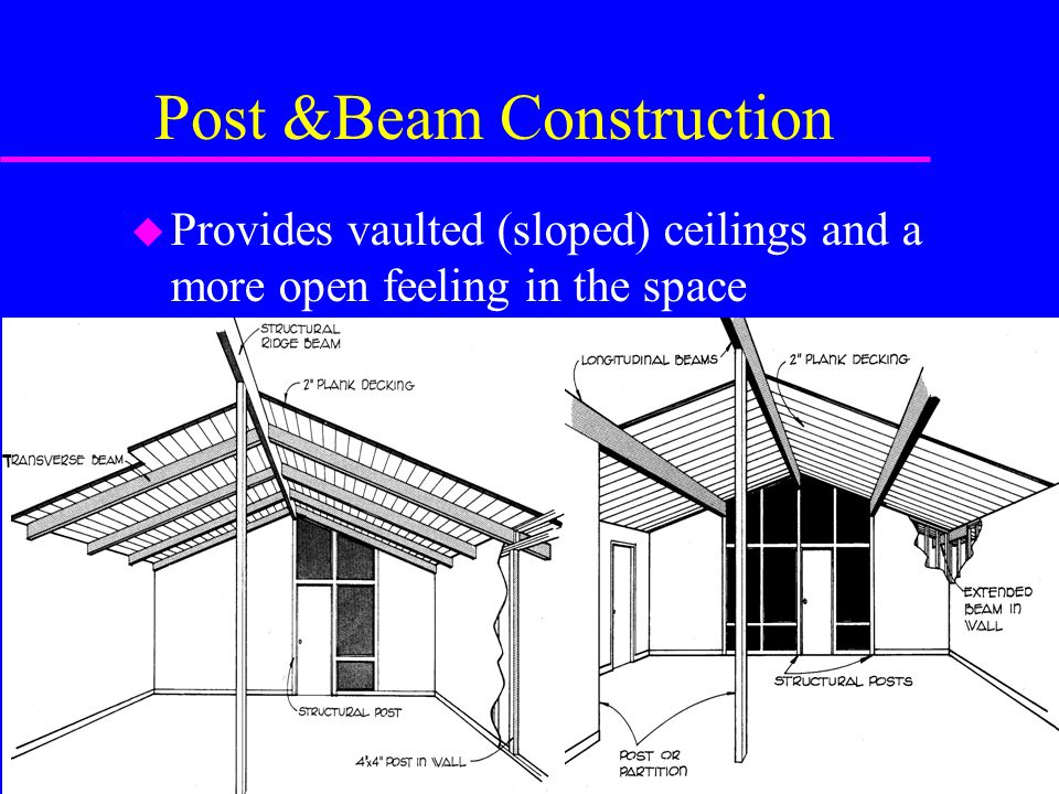 Post &Beam Construction