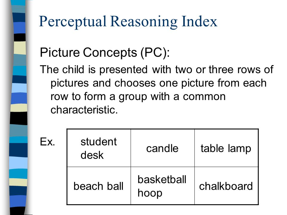 Perceptual Reasoning Index