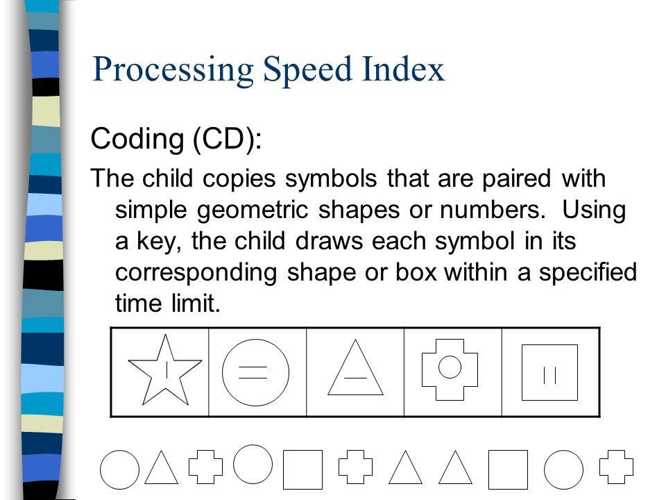 Processing Speed Index