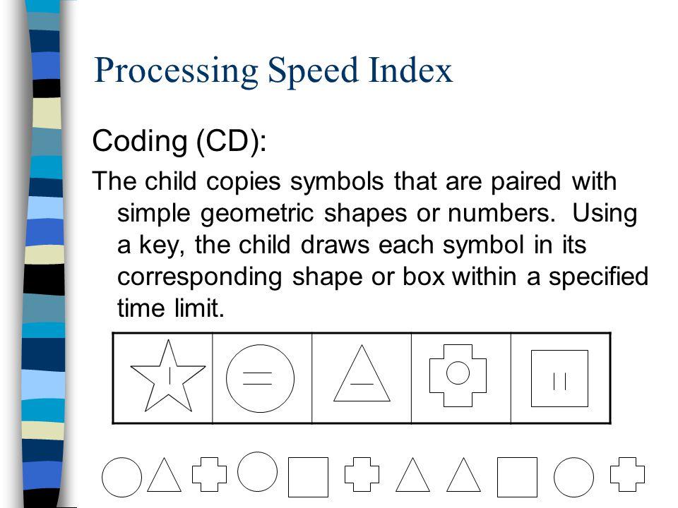 Processing Speed Index