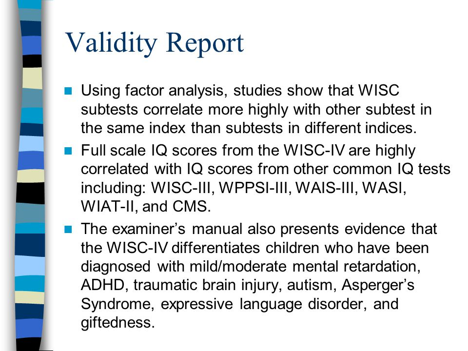 Validity Report