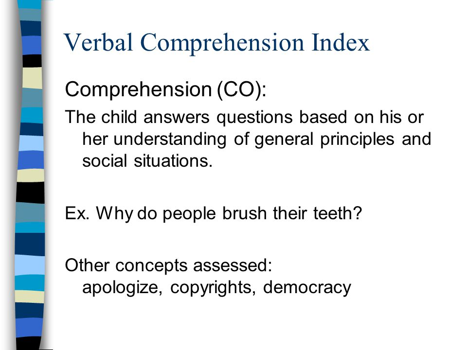 Verbal Comprehension Index