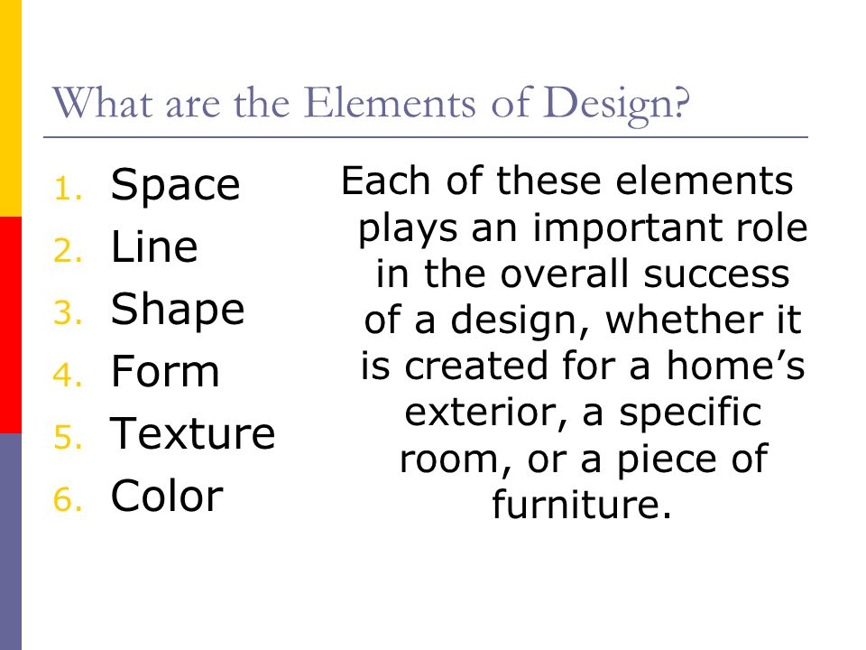 What are the Elements of Design