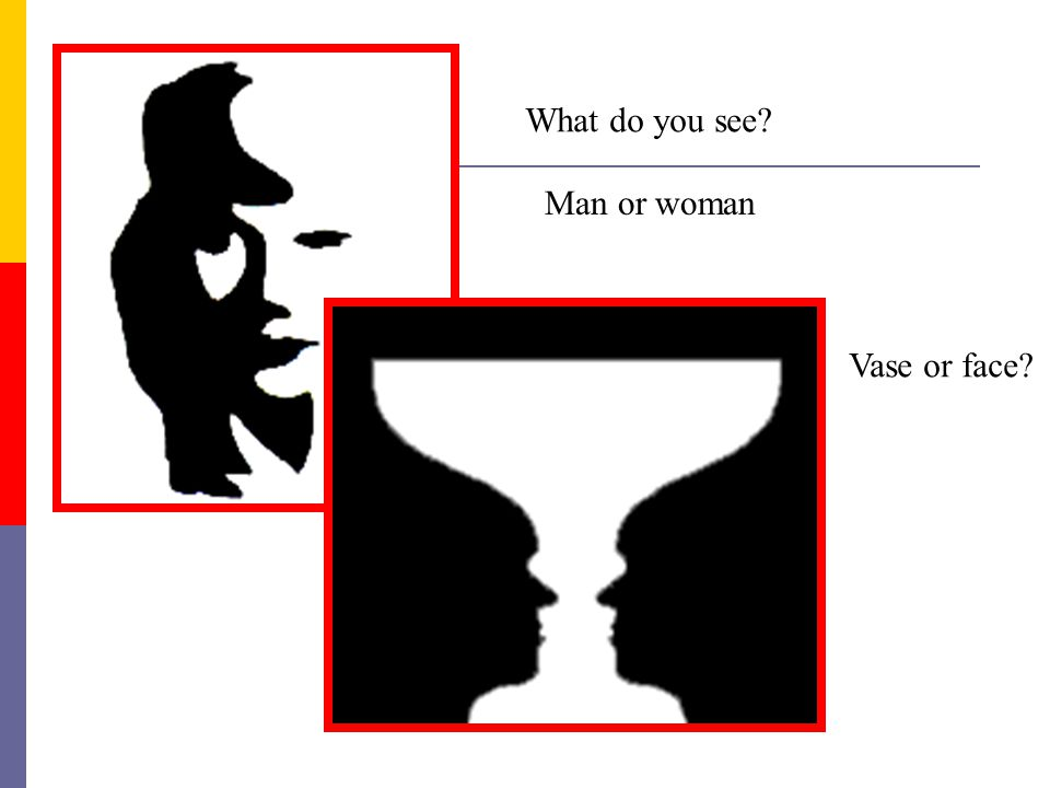 What do you see Man or woman Vase or face