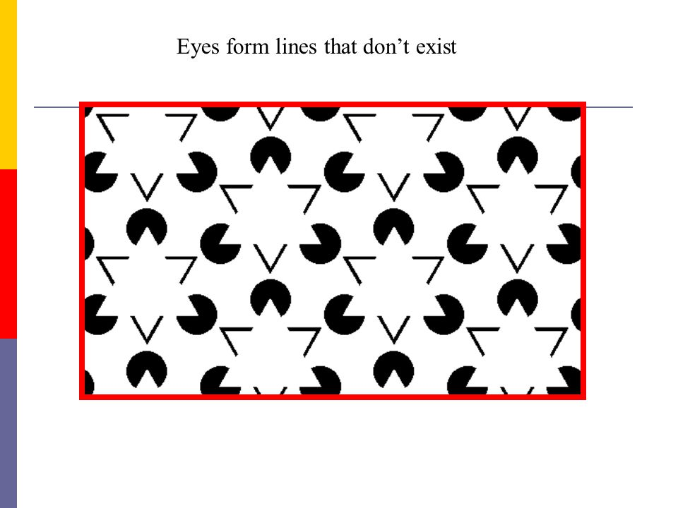 Eyes form lines that don't exist
