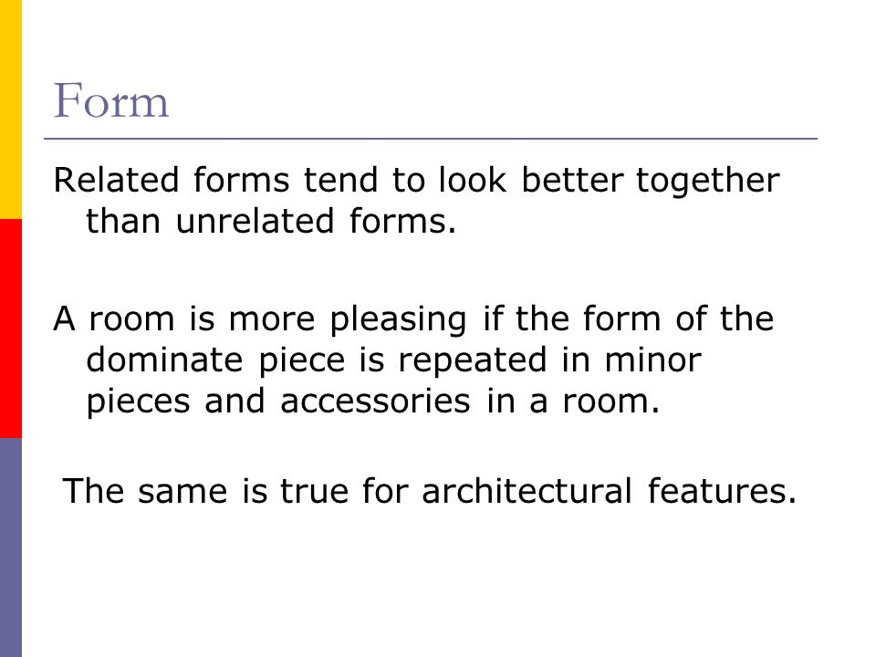 The same is true for architectural features.