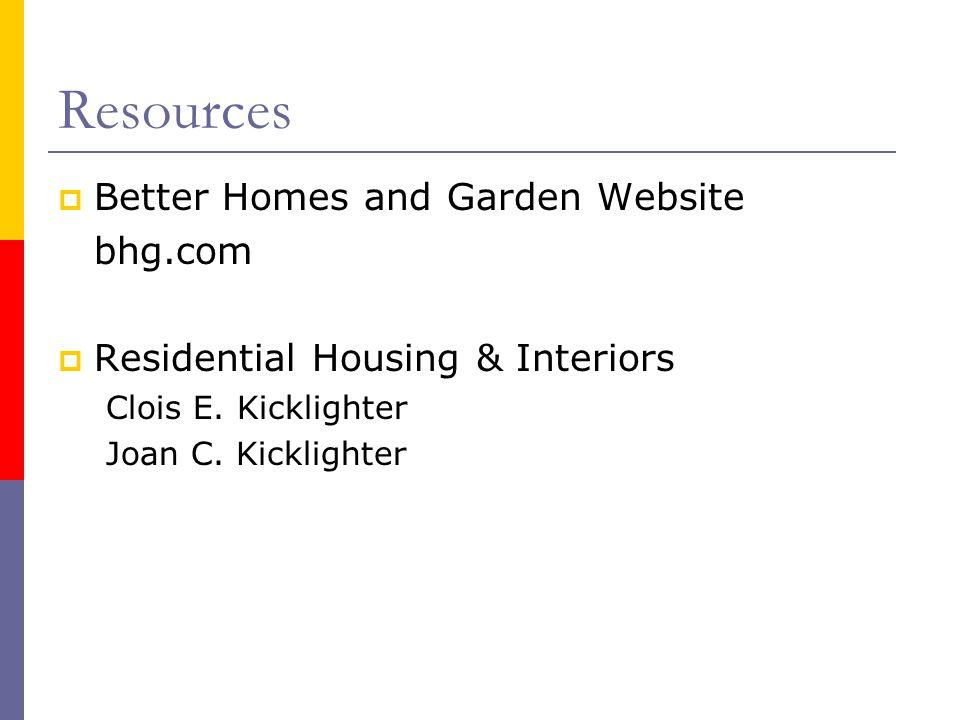 Resources Better Homes and Garden Website bhg.com