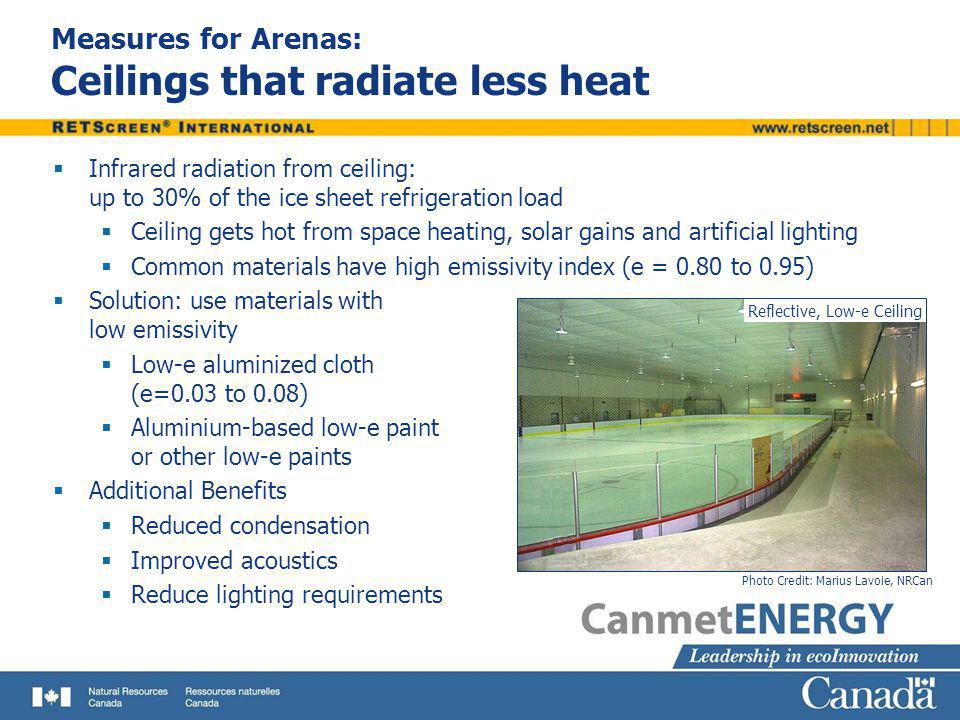 Measures for Arenas: Ceilings that radiate less heat