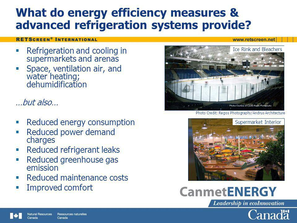 What do energy efficiency measures & advanced refrigeration systems provide