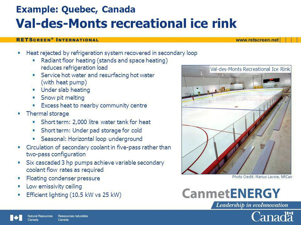 Example: Quebec, Canada Val-des-Monts recreational ice rink