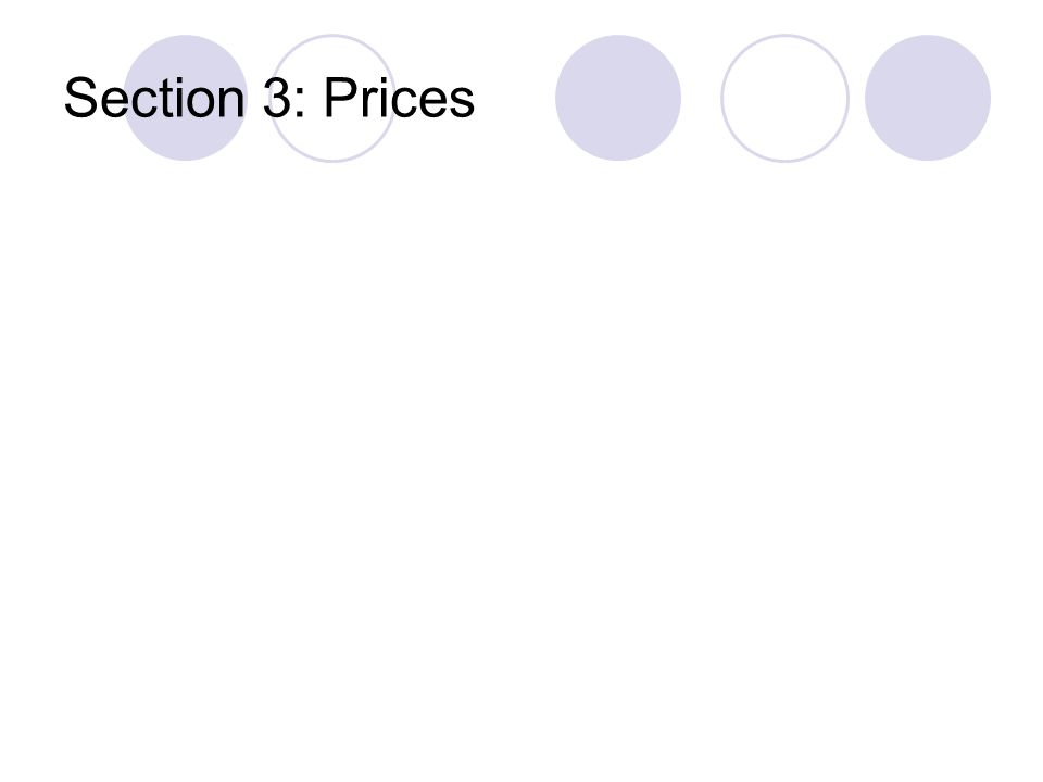 Section 3: Prices