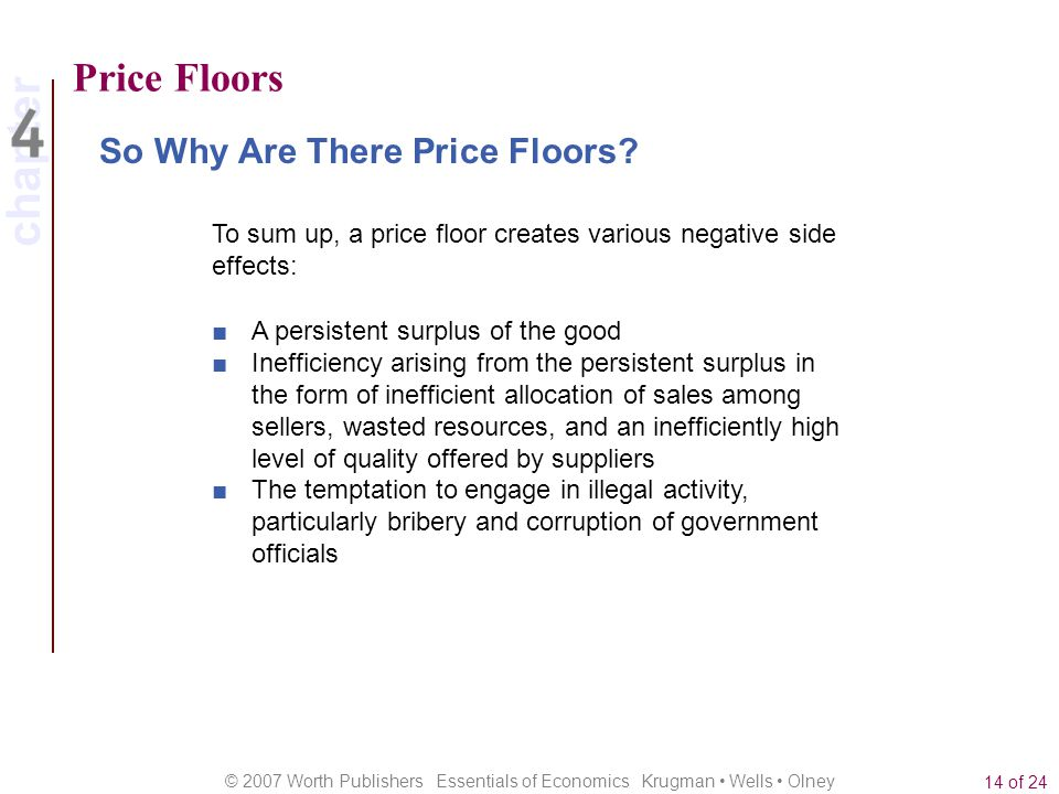Price Floors So Why Are There Price Floors