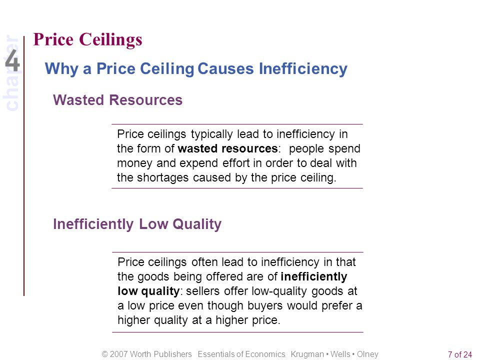 Price Ceilings Why a Price Ceiling Causes Inefficiency