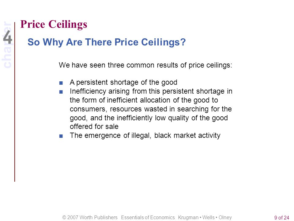 Price Ceilings So Why Are There Price Ceilings