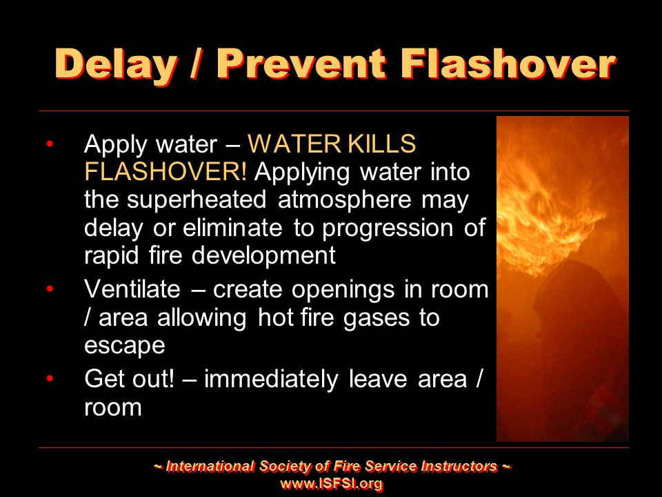 Delay / Prevent Flashover
