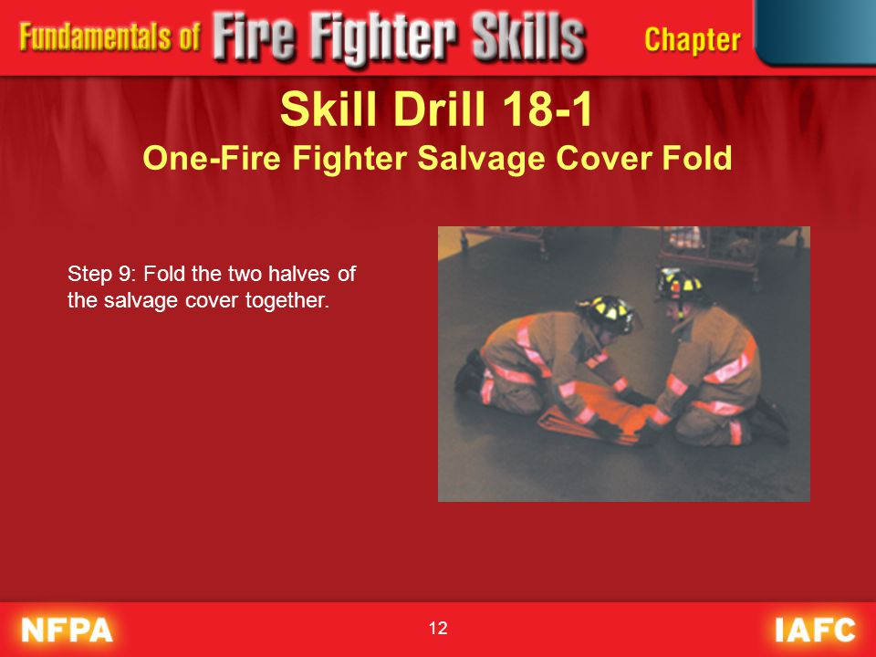 Skill Drill 18-1 One-Fire Fighter Salvage Cover Fold