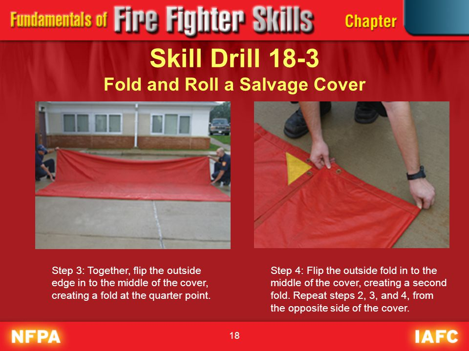 Skill Drill 18-3 Fold and Roll a Salvage Cover