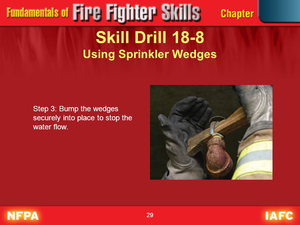 Skill Drill 18-8 Using Sprinkler Wedges