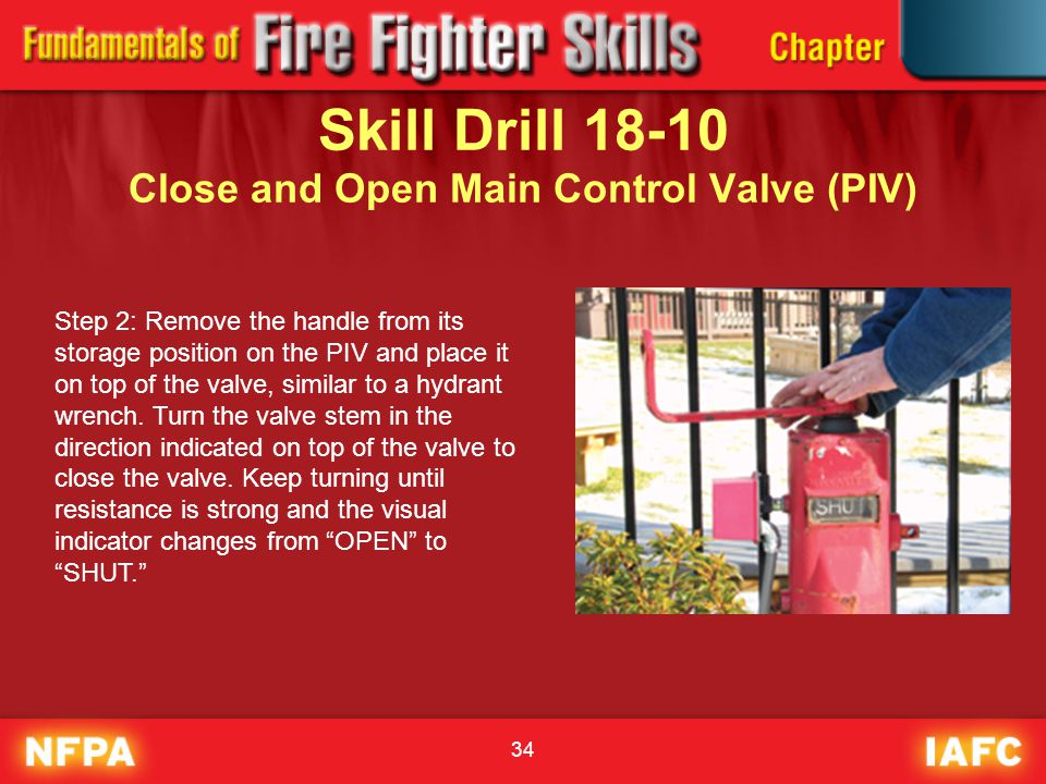 Skill Drill 18-10 Close and Open Main Control Valve (PIV)