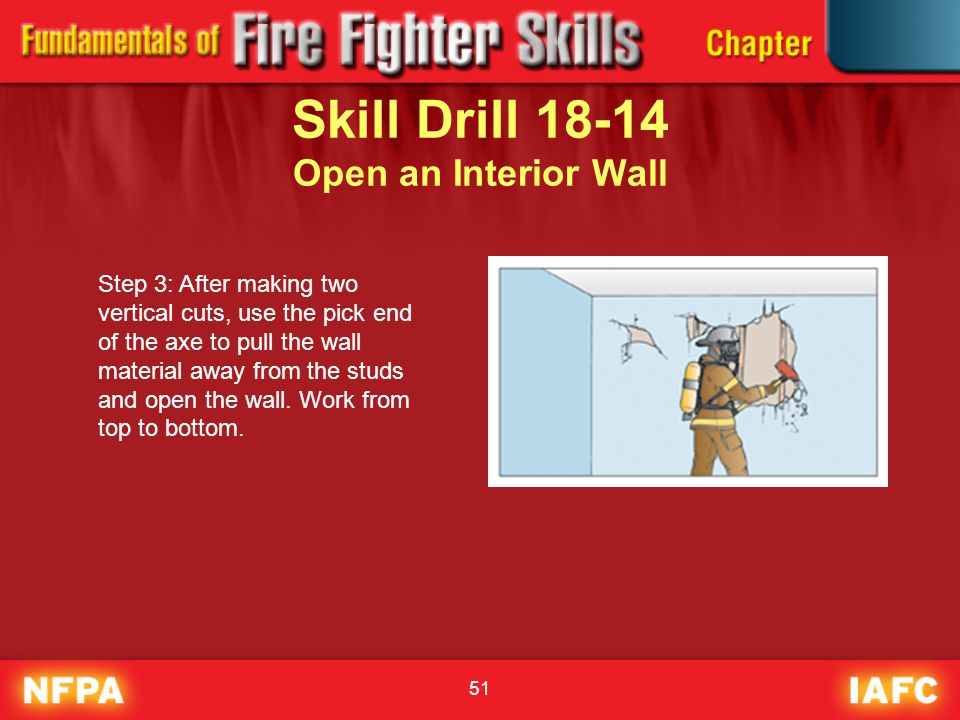 Skill Drill 18-14 Open an Interior Wall