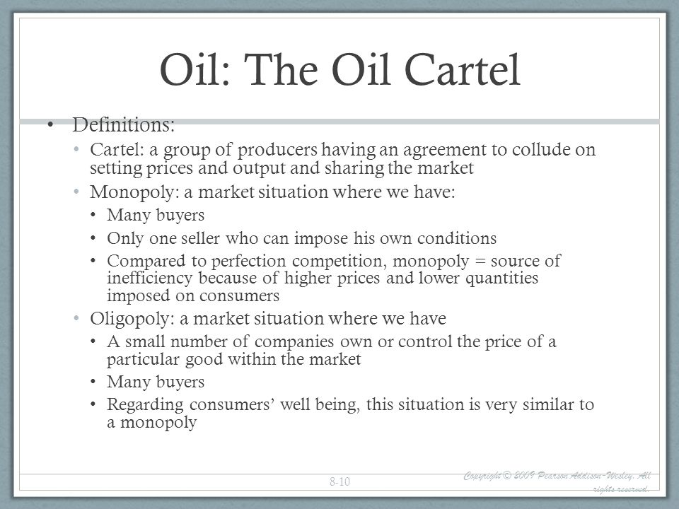 Oil: The Oil Cartel Definitions: