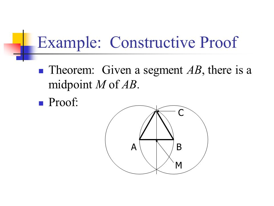 Example: Constructive Proof