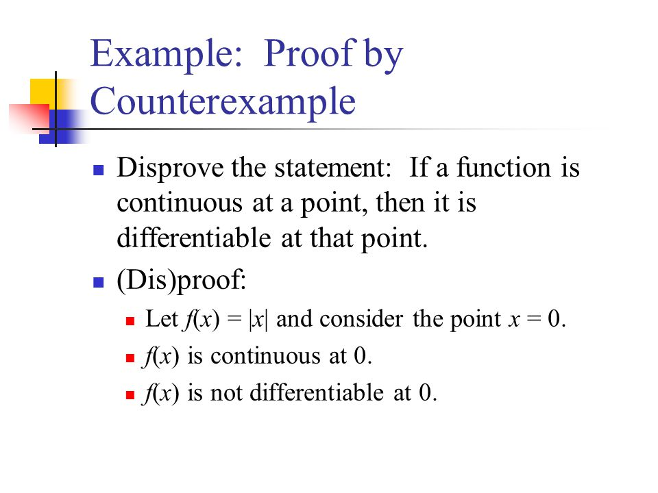 Example: Proof by Counterexample