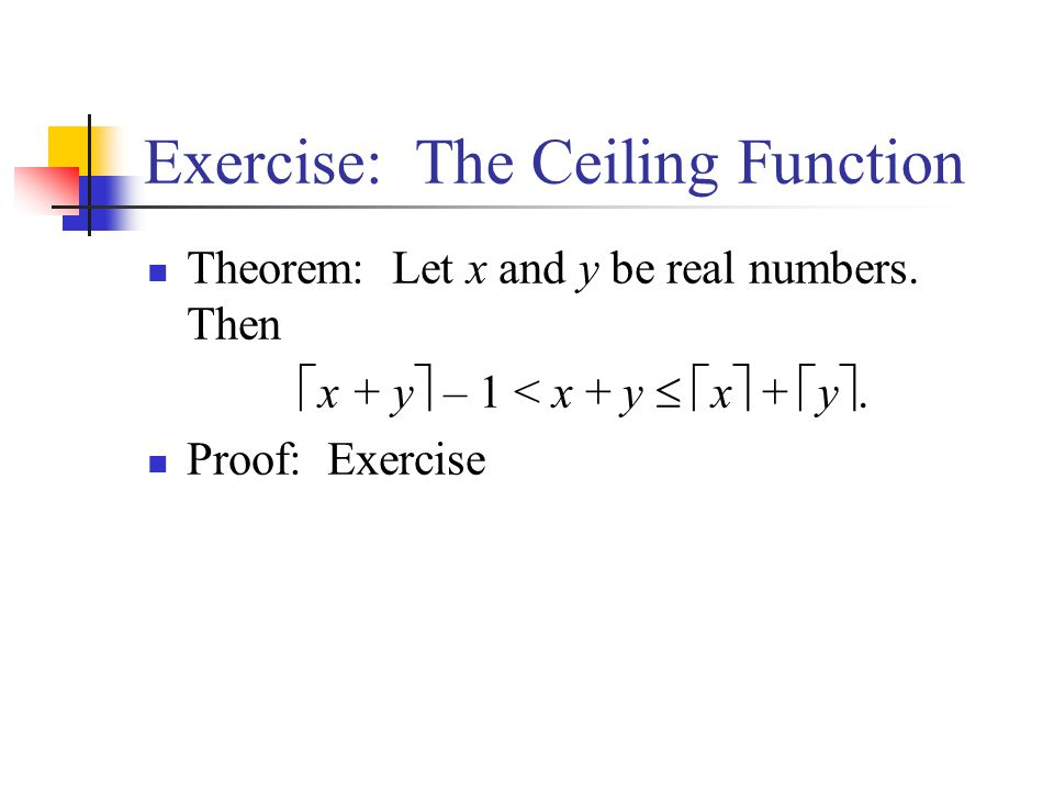 Exercise: The Ceiling Function